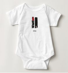 """bisous. that's french for kisses! --------------- """"bisous."""" infant baby bodysuit. original red lipstick illustration by artist, tracie brown. 100% cotton flat lock seams reinforced 3 snap closure machine wash cold inside out tumble dry low do not iron not intended for sleepwear all apparel is printed using the direct to garment (DTG) method. DTG, also known as digital printing, is a state-of-the-art printing process using specialized inkjet technology and eco-friendly water based ink. OUR"""