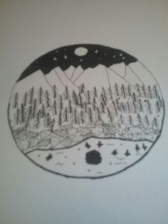 Las góry i jezioro