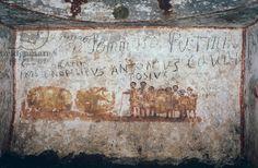 The Coopers, Cubiculum of the Bottai (fresco). Roman, (4th century AD). Catacombs of Priscilla, Rome, Italy