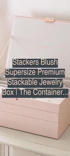 Jewelry Box | Stackers Blush Supersize Premium Stackable Jewelry Box | The Container Store | Jewelry Organizer Closet Organizers | Jewelry Organizer Drawer Ikea Closet Organization, Jewelry Organization, Jewelry Making Tools, Jewelry Box, Jewelry Organizer Drawer, Container Store, Purse Styles, Gold Filled Jewelry, Round Beads