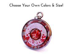 Beautiful Karma Necklace, handmade jewelry with splashes of custom colors