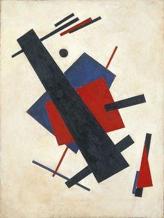 Suprematism by Nikolai Suetin, 1920-21, oil on canvas