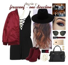 """""""day six, fireproof by one direction"""" by roxouu ❤ liked on Polyvore featuring Kate Spade, Topshop, rag & bone, Magdalena Frackowiak, RetroSuperFuture, NARS Cosmetics, CC SKYE and Stussy"""