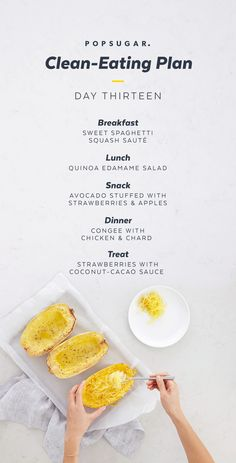 Spaghetti squash spiced with cinnamon makes for a lovely breakfast in our Clean-Eating Plan.