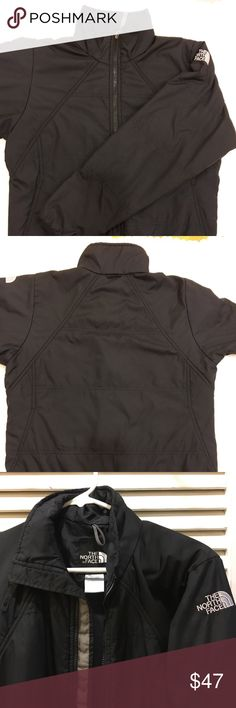 "The North Face Women's Light Jacket/Liner The North Face women's light jacket, can be used as a liner as it has a double sided zipper.  Very soft with minor signs of wear, such as a frayed zipper pull as shown in photos.  Size small, black.  Smoke free environment.   BUNDLE UP! When you hit ""bundle,"" sellers may send you an exclusive deal.  ""BUNDLE"" your likes - even if it's just one like - and perhaps you'll receive an exclusive deal. You'll never know unless you try 😉! The North Face…"
