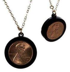 Framed coin keepsake clever way to convert coin into jewelry 40 thrifty diy jewelry designs solutioingenieria Gallery
