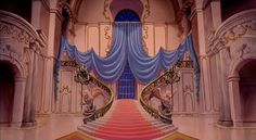 Beautiful Animation Backgrounds: This one is that great staircase from BEAUTY AND THE BEAST