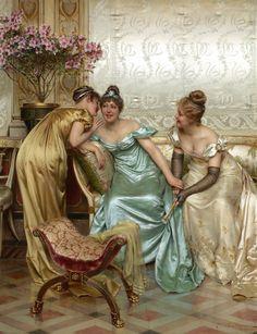 Шарль-Жозеф-Фредерик Сулакруа(Charles Joseph Frederic Soulacroix),1825-1879.Франция-Италия. Секреты (Secrets)