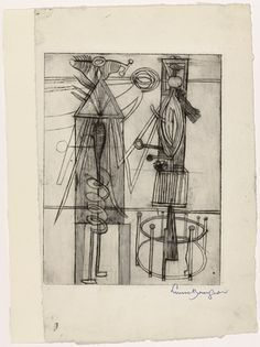 Louise Bourgeois. Untitled, plate 7, state III, from He Disappeared into Complete Silence. (1946-1947)