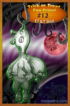 Trick or Treat Fun Prizes #12. ET&T Doll.  Two heads are deader than one.