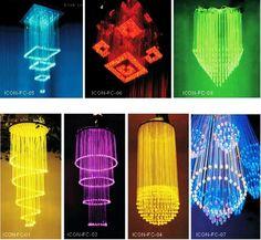 LED crystal fiber optic chandelier $200~$441 freakin cool