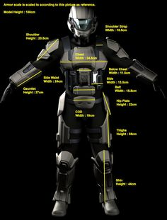 Unassembled Foam Kit Cosplay Costume : Halo ODST by CraftAccess