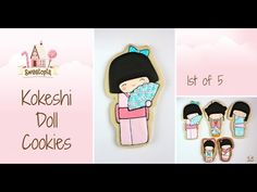 {Video} Decorating Kokeshi Doll Cookies {Doll 1} | Sweetopia