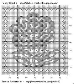 Free Filet Crochet Charts and Patterns: Flower