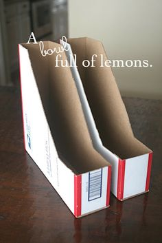 I just thought about doing this with cereal boxes!  Shipping boxes are much sturdier!  (and free)  I'm so smart.