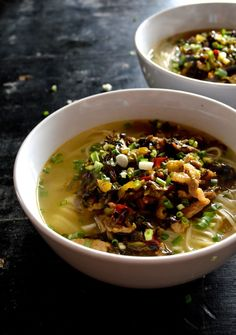 Noodle Soup with Pork and Pickled Greens by thewoksoflife.com