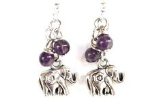 Sacred Elephant Earrings Yoga Jewelry by BohemianEarthDesigns, $14.95