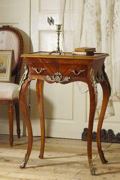 アンティーク サイドテーブル(メタル装飾)  French Antique Side Table