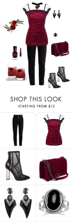 """""""Untitled #733"""" by skatiemae ❤ liked on Polyvore featuring Balenciaga, Steve Madden and Alexis Bittar"""