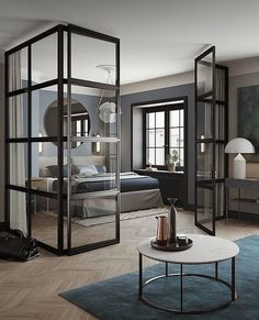 How stunning is this bedroom via @eklundstockholmnewyork 👌🏻😍Good night all ✨ . #bedroom #bedroomdecor #nordichome #nordicinspiration