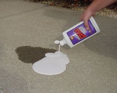 If you search online for ways to remove oil stains, you'll come across all kinds of things.  One of the most common suggestions I've come across from ...