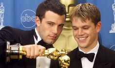 Ben Affleck Actor Posts Photo Collage Tribute to Matt Damon on National Best Friends Day Never Seen Video - CWEB Actors Male, Hot Actors, Ben Afleck, Best Actor Oscar, National Best Friend Day, Casey Affleck, Best Screenplay, Good Will Hunting, Friends Day