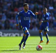 Riyad Mahrez of Leicester City during the Barclays Premier League match between Sunderland and Leicester City at the Stadium of Light on April 10, 2016 in Sunderland, England. (April 9, 2016 - Source: Shaun Botterill/Getty Images Europe)