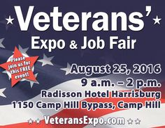 Veterans' Expo and Job Fair - Capital Area 2016 Tickets, Thu, Aug 25, 2016 at 9:00 AM | Eventbrite Visit ACCESS at DeSales, #MilitaryFriendly
