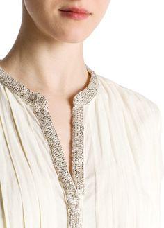 MANGO - Beaded cotton dress