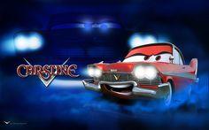 Pixar Car [as a 1958 Plymouth Fury / Christine] (Drawing by DanyBoz Nascar, Plymouth Fury, Disney Pixar Cars, Car Drawings, Lightning Mcqueen, Car Tuning, Rat Rods, Cartoon Wallpaper, Jukebox