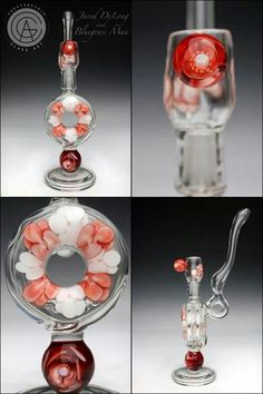 Nice girly oil rig by Chesterfield Glass Art