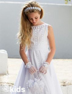 Our First Communion collection will turn every little girl into a princess. Adlib Ibiza Fashion for the youngsters too Première Communion, Holy Communion Dresses, Cute Girl Dresses, Girl Outfits, Flower Girl Dresses, Baptism Dress, Baby Girl Fashion, Special Occasion Dresses, Baby Dress