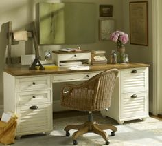 LOVE this, file drawers, and each drawer has dividers.