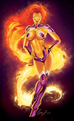Starfire from The DC Comic Universe.