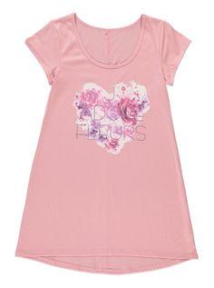 floral placement print jersey dress