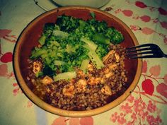 Chicken, broccoli and buckwheat!