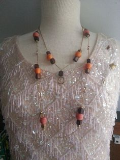 Vintage Hip 2 strand 1970s long neutral by StaceysSweetScents, $10.99