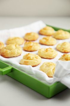 Gruyère Gougères: Gruyère gougères may sound and taste fancy, but they're surprisingly easy to make. Also note that few foods pair better with a glass of festive Champagne than these cheese puffs.