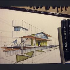 """Architecture - Daily Sketches on Instagram: """"By @ruscule #arch_more"""""""