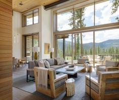 This modern mountain retreat was designed by Walton Architecture in collaboration with designer Dara Rosenfeld, located in Martis Camp, a luxury community in Lake Tahoe, California.