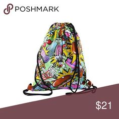 Movie theatre popcorn and hotdogs What's a movie without a few snacks luckily your new drawstring. Bags Backpacks