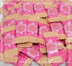 Bala Personalizada Rosa com Dourado #rosaedourado #festa15anos #papelariarosaedourado #lembrancinhas15anos #savethedate