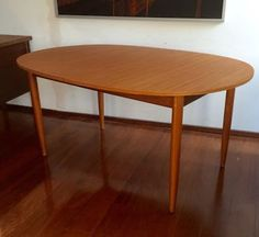 FABULOUS PARKER EAMES ERA OVAL EXTENSION TABLE
