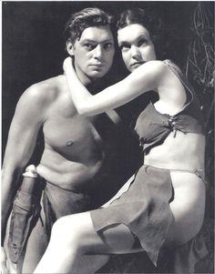 Original Tarzan and Jane photo. Maureen O'Sullivan is the original Jane.
