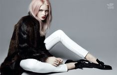 Abbey Lee Kershaw Poses Alongside Her Brother Tim for Vogue Chinas July Issue