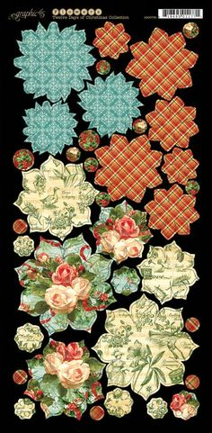 Twelve Days of Christmas Cardstock Flowers 1 #graphic45 #newcollection #sneakpeeks