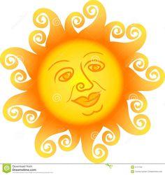 Cartoon Sun Face/ai Stock Images - Image: 5171734