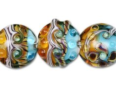 Ocean Sunset Mix Discs (7pcs) so pretty I would pair up with some charms in between the beads.