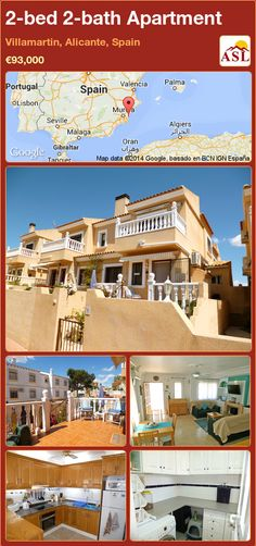 2-bed 2-bath Apartment in Villamartin, Alicante, Spain ►€93,000 #PropertyForSaleInSpain