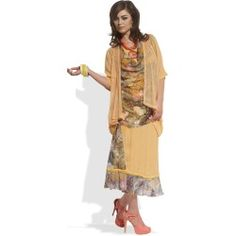 Love The Queen: Mix Media Printed Women's Casual Wear 17123 - Gold (shown) - L